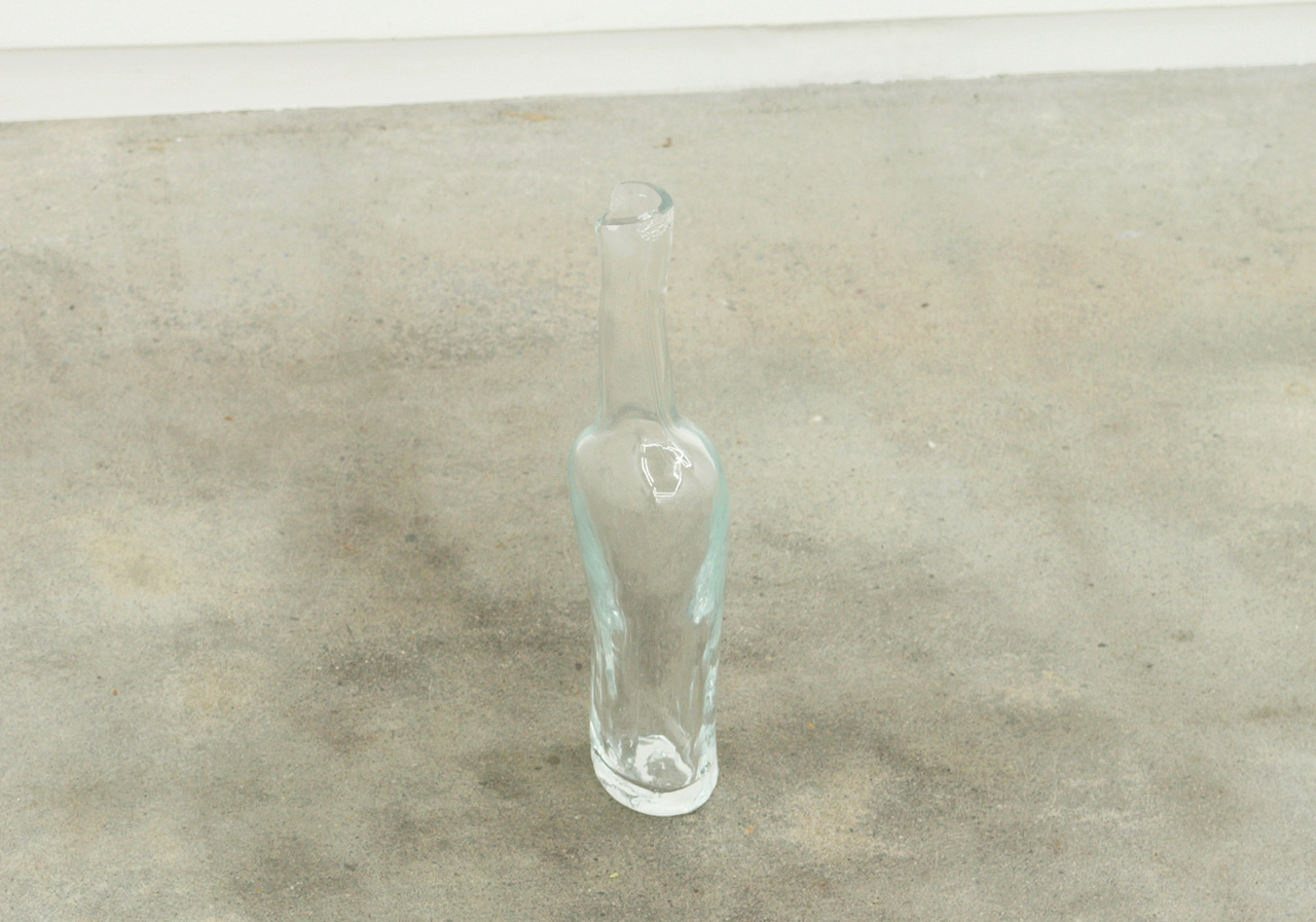 """'A bottle of """"Picturesque""""' Blown glass 315×60×70 mm 2017"""