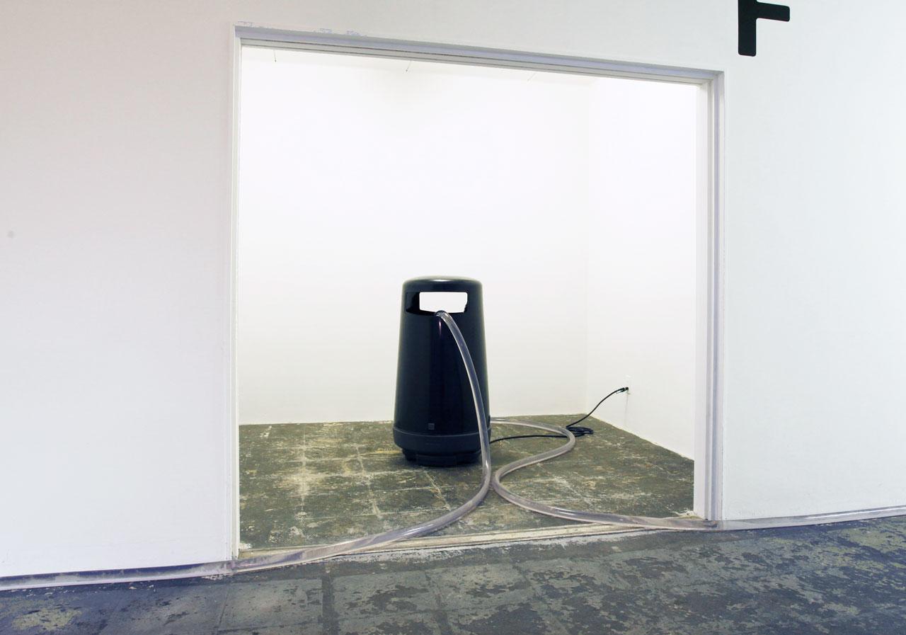 'A landscape' Litter bin, pump, hosepipe, water, bell, drawings Dimension Variable 2013