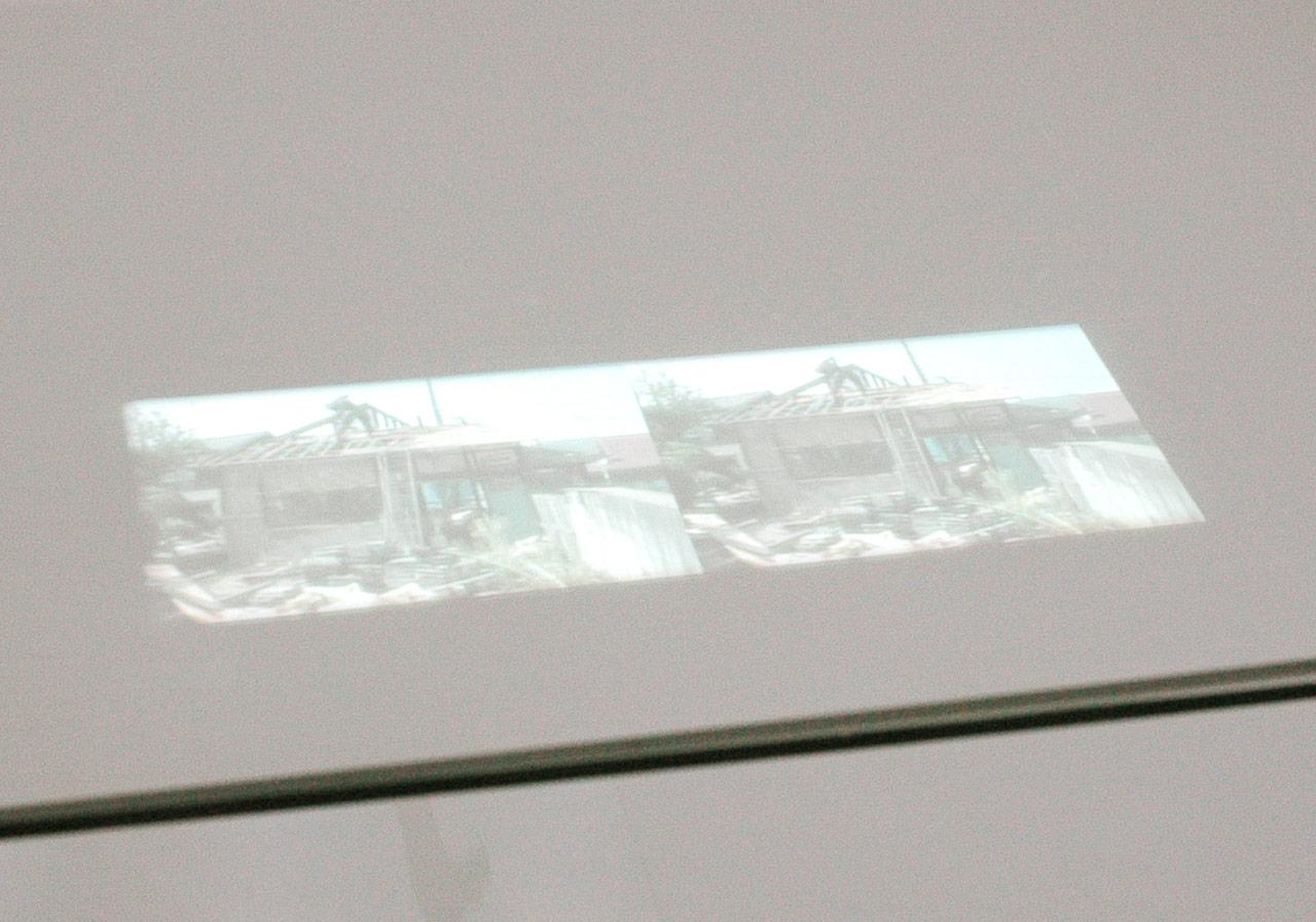 'Birds pearch on' Video installation(06:05 loop) 2004 Photo: Masataka Nakano
